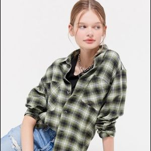 URBAN OUTFITTERS Dustin Flannel Button Down Shirt